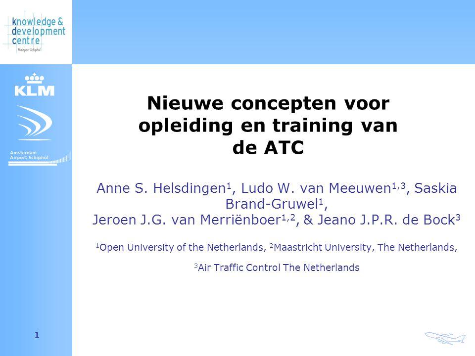 Amsterdam Airport Schiphol 1 Anne S. Helsdingen 1, Ludo W. van Meeuwen 1,3, Saskia Brand-Gruwel 1, Jeroen J.G. van Merriënboer 1,2, & Jeano J.P.R. de