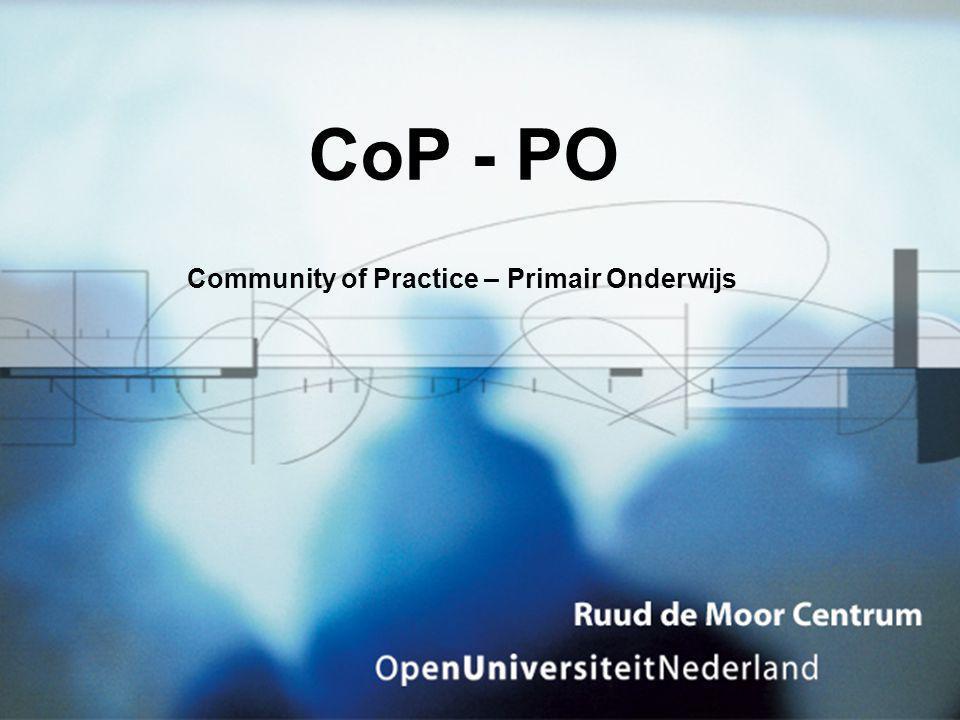 CoP - PO Community of Practice – Primair Onderwijs
