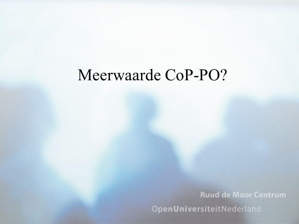 Meerwaarde CoP-PO?