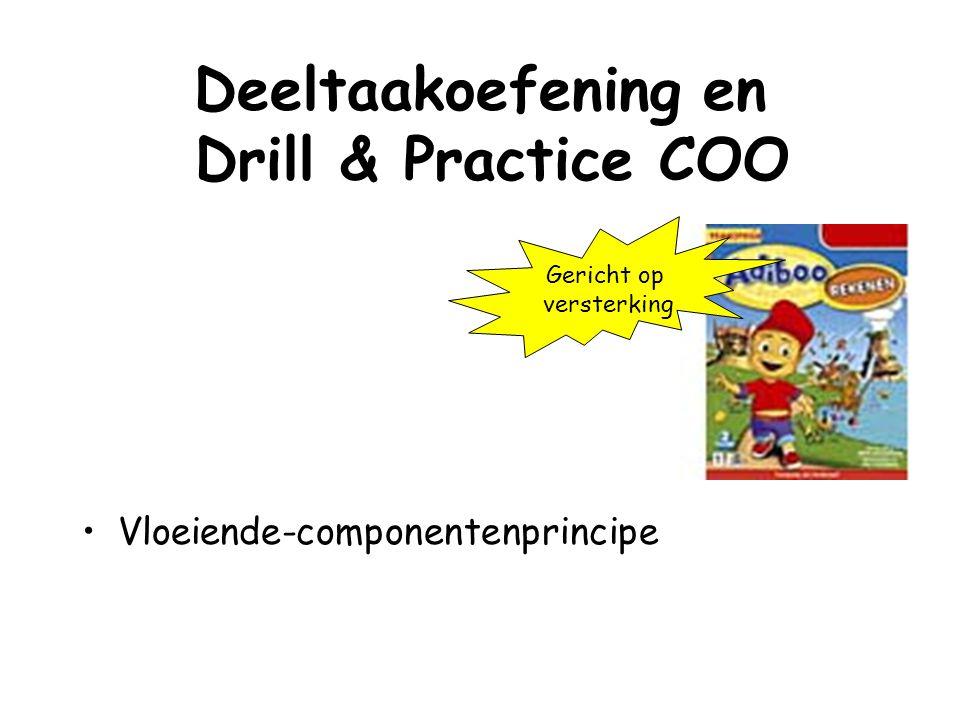 Deeltaakoefening en Drill & Practice COO Vloeiende-componentenprincipe Gericht op versterking