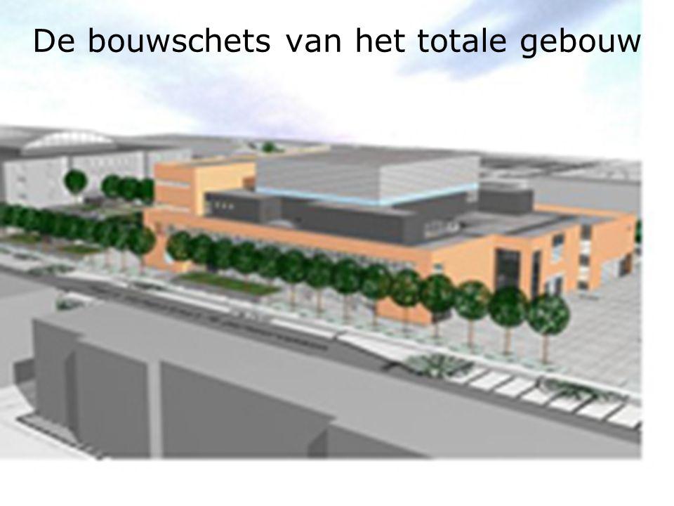 De bouwschets van het totale gebouw