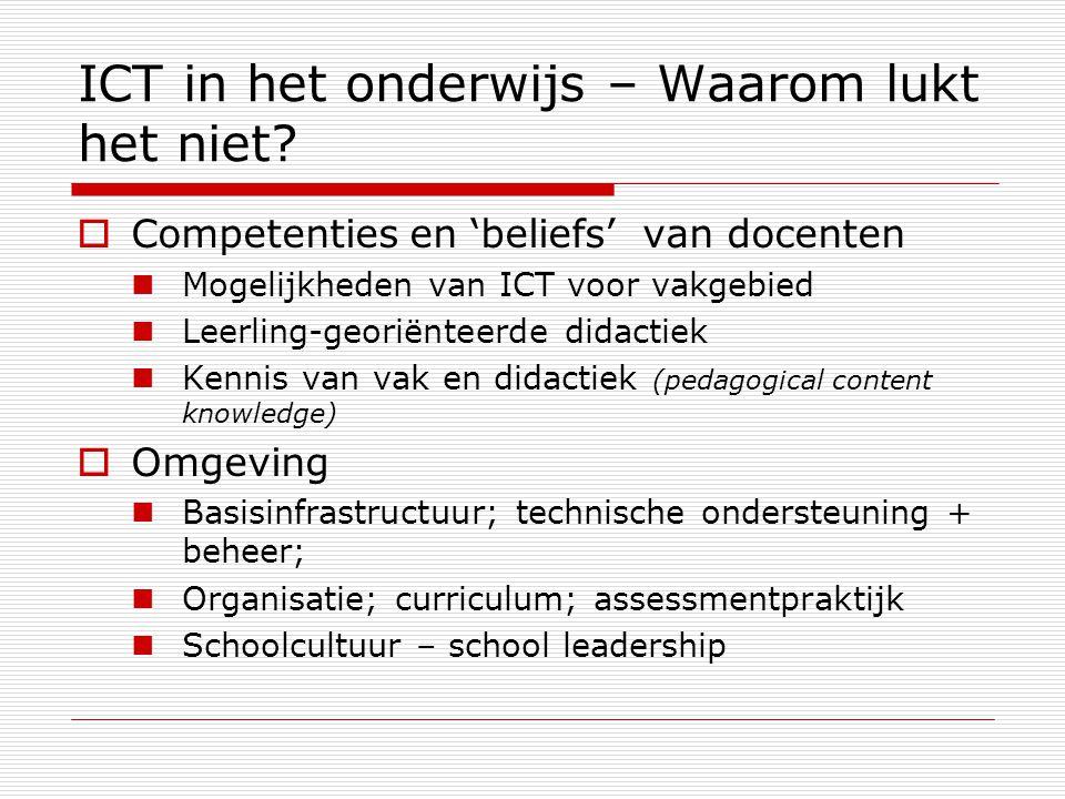 ICT in het onderwijs – Waarom lukt het niet.