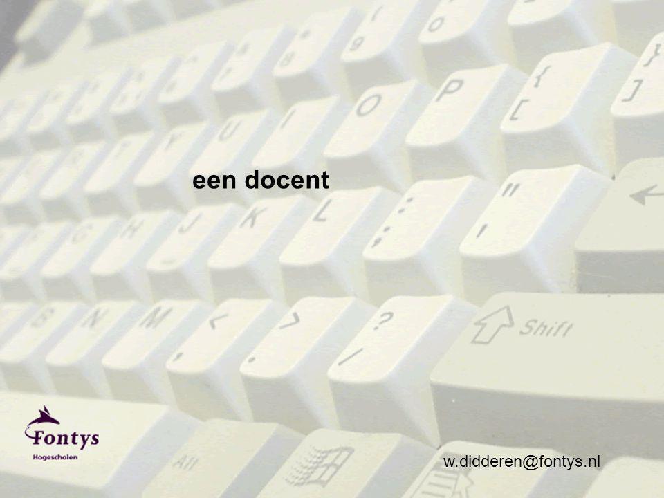 w.didderen@fontys.nl een docent