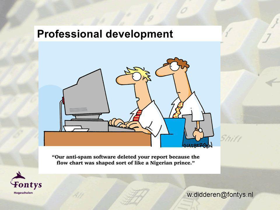 w.didderen@fontys.nl Professional development
