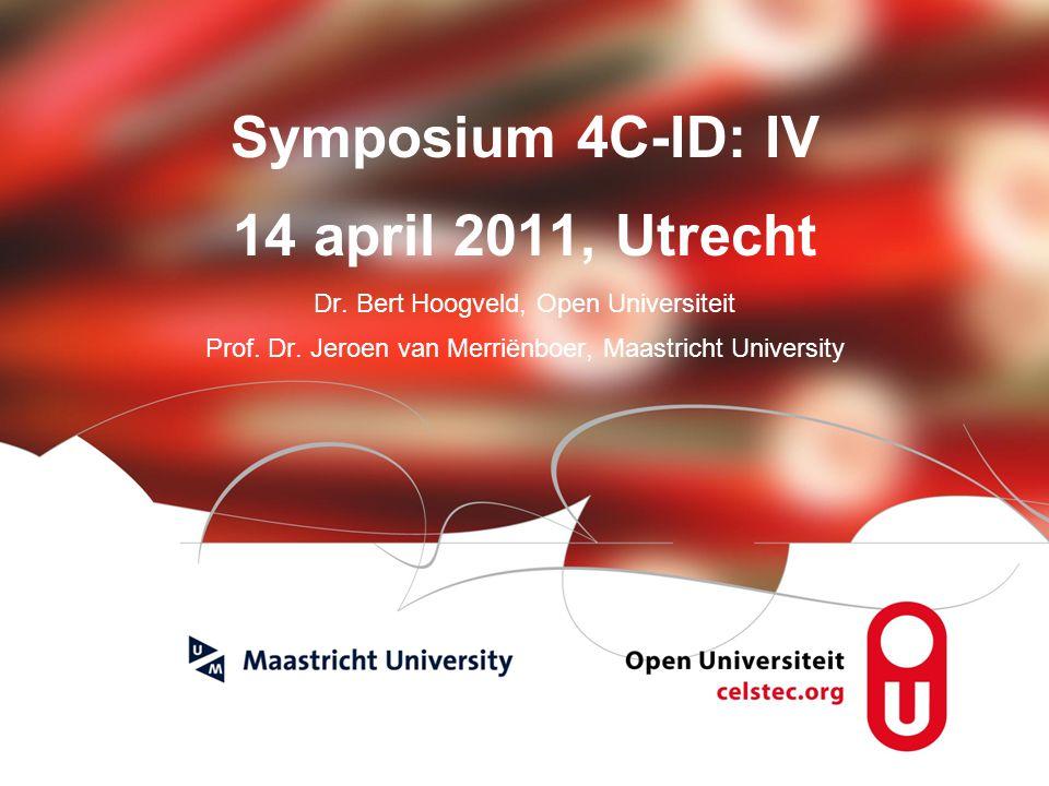Visionen für die Betriebliche Weiterbildung page 1 Symposium 4C-ID: IV 14 april 2011, Utrecht Dr.