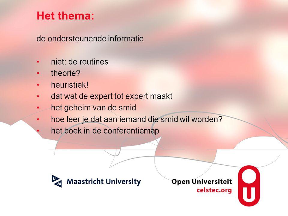 Visionen für die Betriebliche Weiterbildung page 3 Het thema: de ondersteunende informatie niet: de routines theorie.