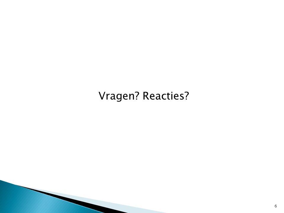 Vragen Reacties 6