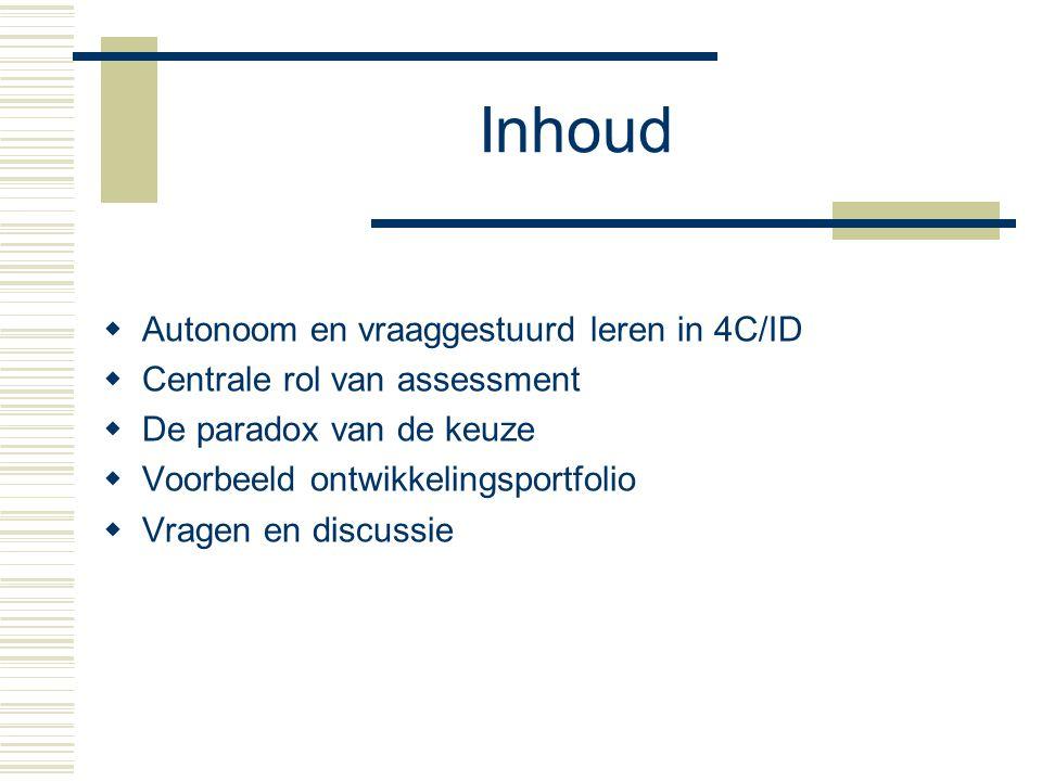 Autonoom en vraaggestuurd leren in 4C/ID