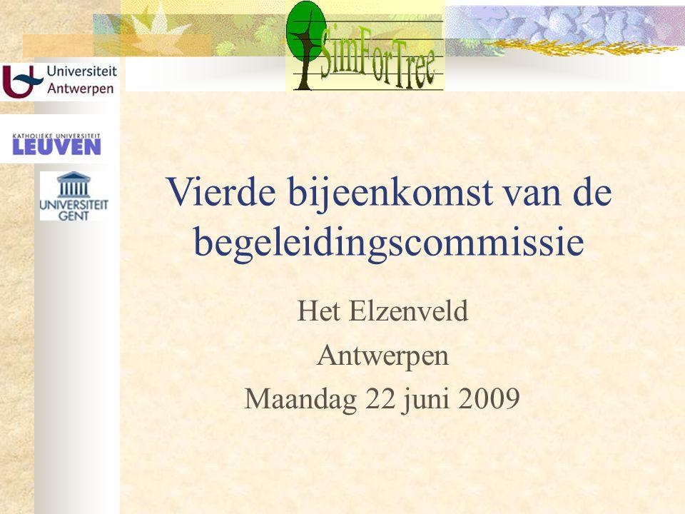 Vierde bijeenkomst van de begeleidingscommissie Het Elzenveld Antwerpen Maandag 22 juni 2009