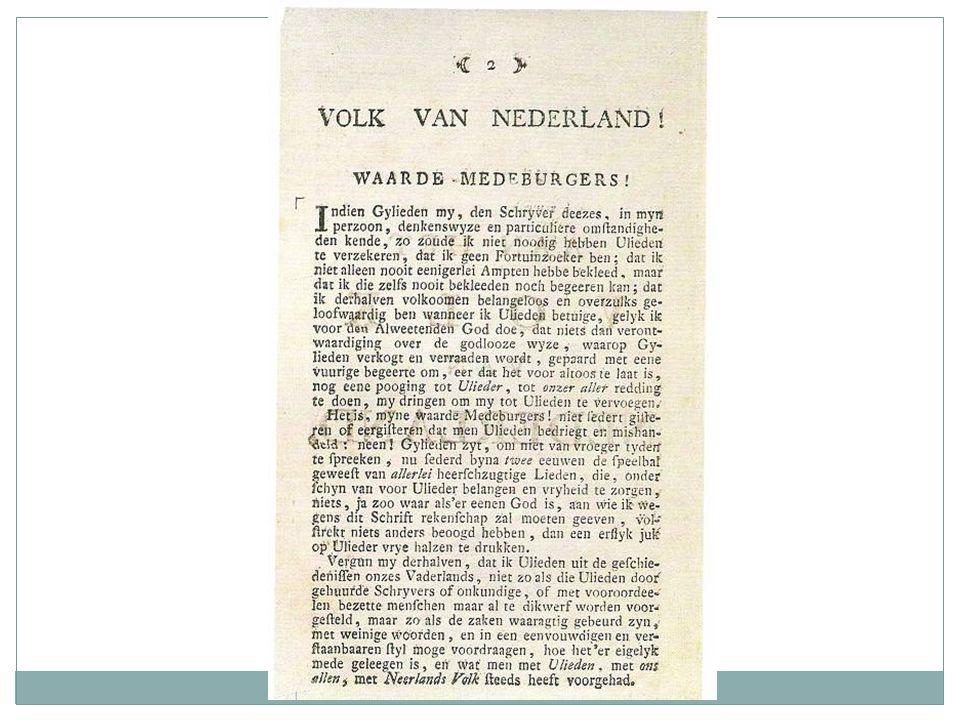 Patriotten beïnvloed door Verlichting Stroming in de 18 e eeuw die de samenleving wil verbeteren op economisch, sociaal en politiek gebied.