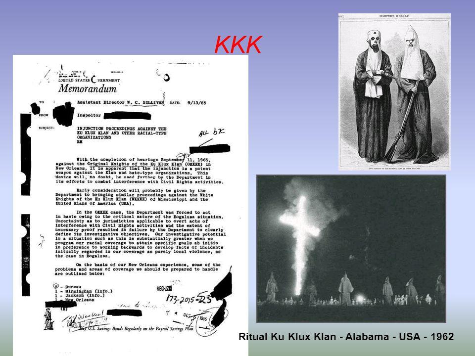 Ritual Ku Klux Klan - Alabama - USA - 1962