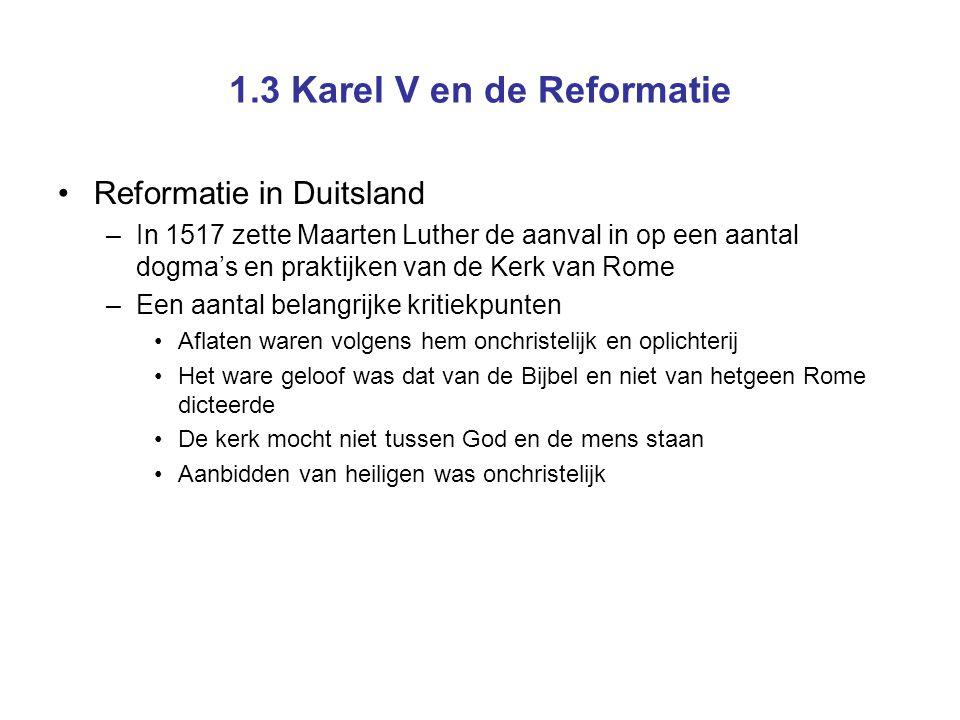 Luther nagelt zijn stellen aan de deur van de kerk in Wittenberg