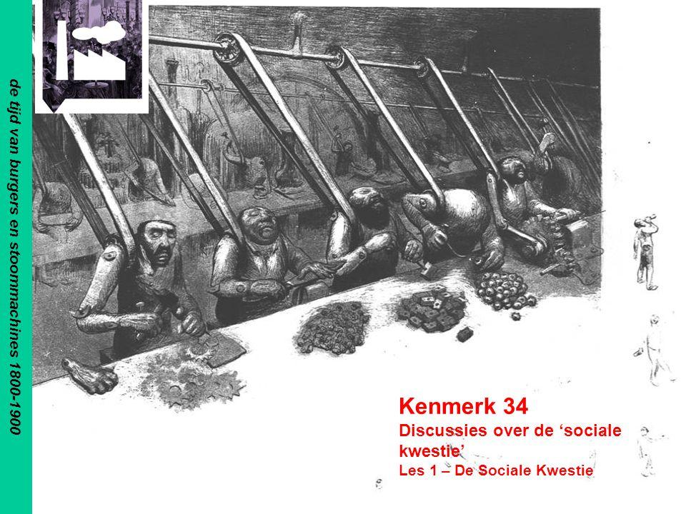 Kenmerk 34 Discussies over de 'sociale kwestie' Les 1 – De Sociale Kwestie de tijd van burgers en stoommachines 1800-1900