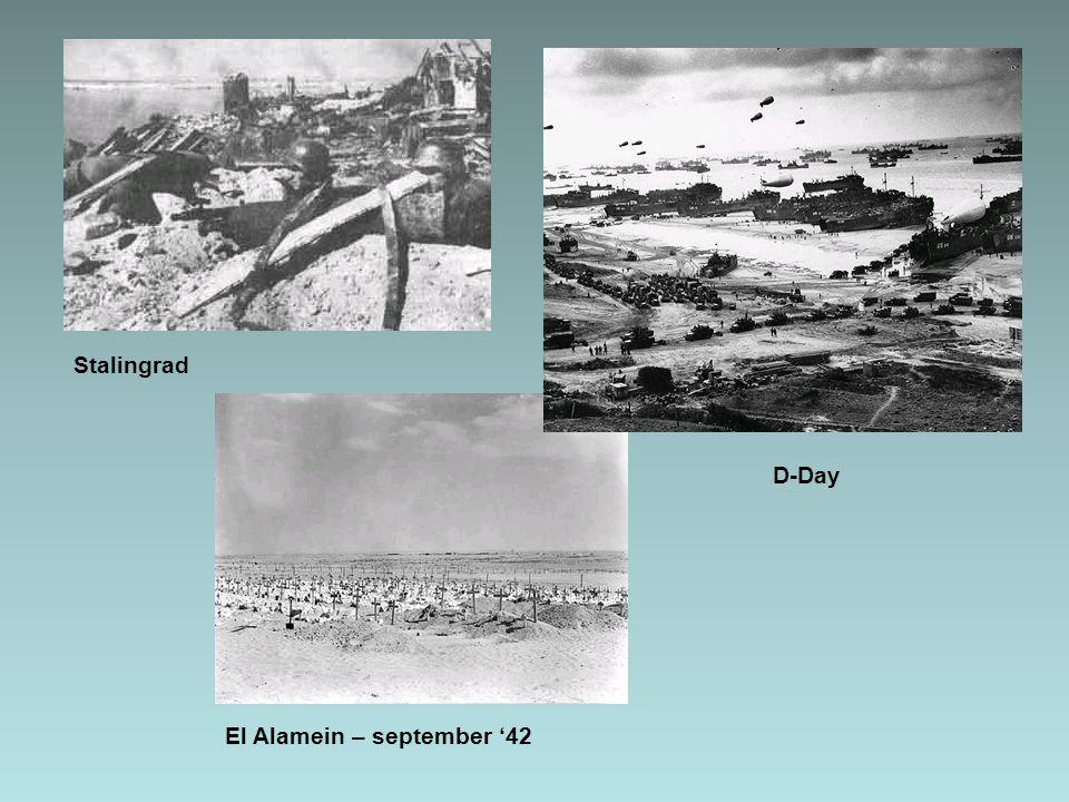 Stalingrad El Alamein – september '42 D-Day