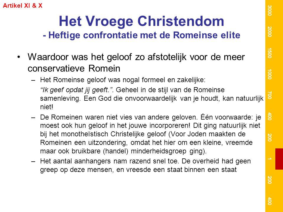 Het Vroege Christendom - Heftige confrontatie met de Romeinse elite Waardoor was het geloof zo afstotelijk voor de meer conservatieve Romein –Het Rome