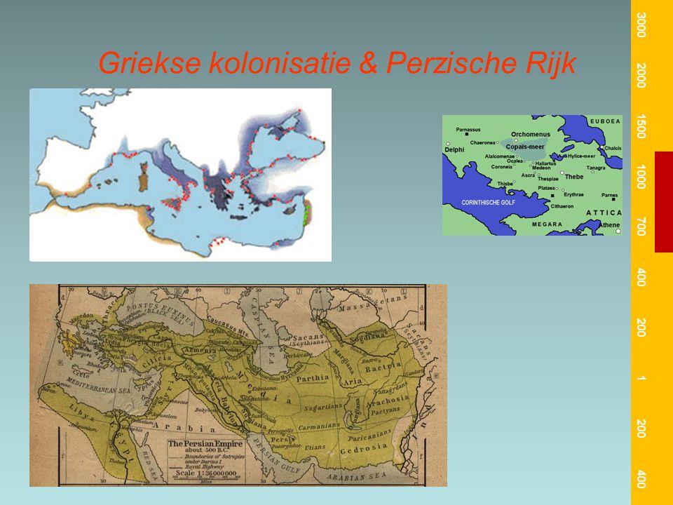 Griekse kolonisatie & Perzische Rijk 3000 2000 1500 1000 700 400 200 1 400
