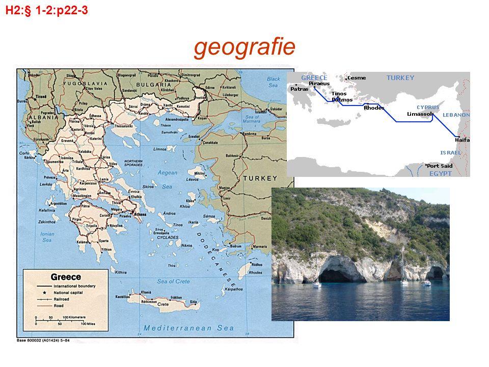 geografie Vragen aan de geografie –Ligging t.o.v.