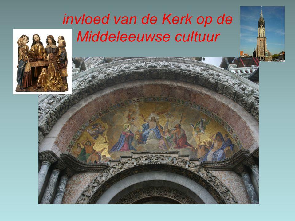 invloed van de Kerk op de Middeleeuwse cultuur