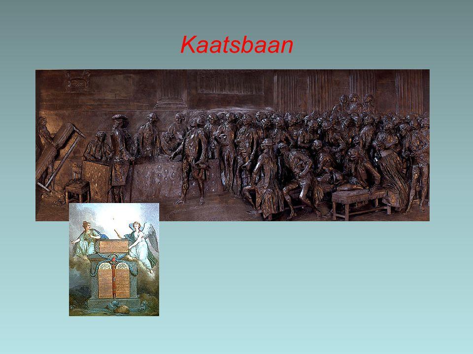 Revolutie Parijse bevolking komt in opstand: Revolutie 14 juli 1789: bestorming van de Bastille Opstand verspreid zich over Frankrijk Kastelen bestormd; edelen vluchten
