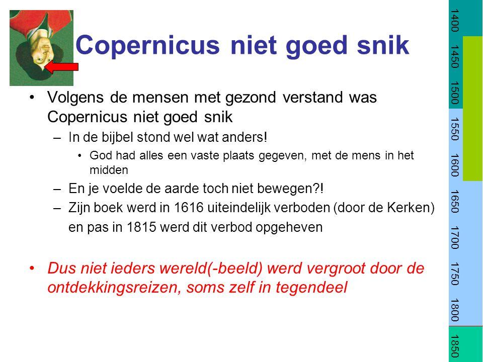 Copernicus niet goed snik Volgens de mensen met gezond verstand was Copernicus niet goed snik –In de bijbel stond wel wat anders.