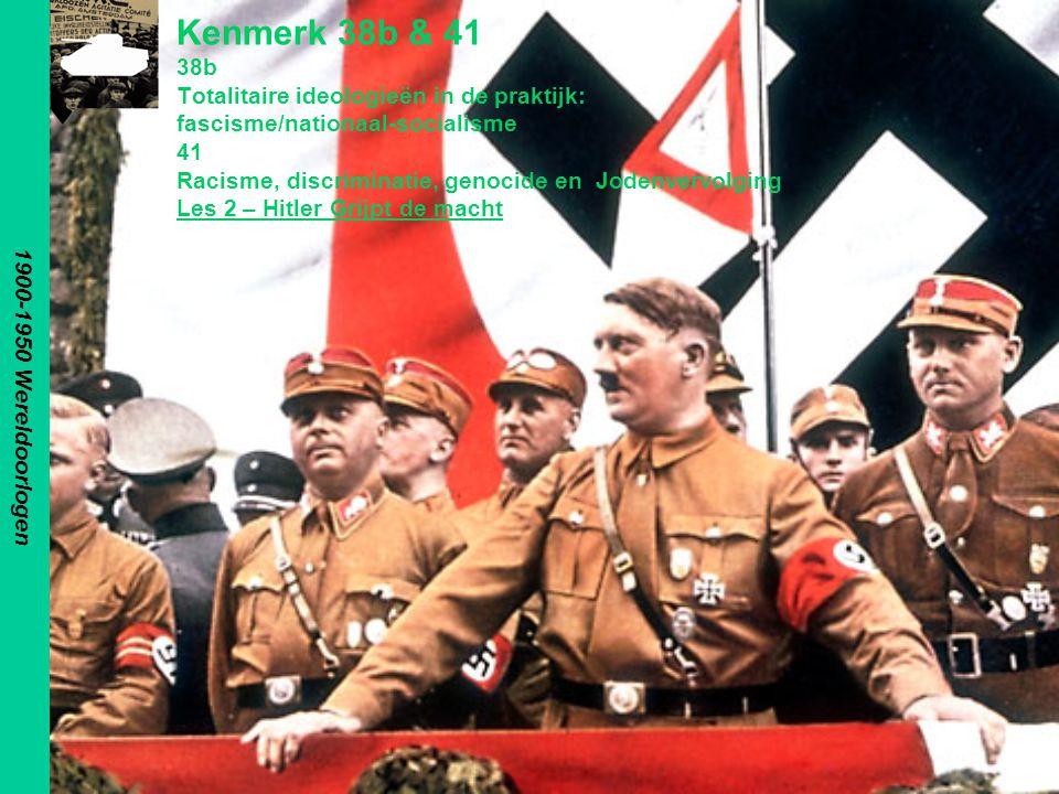 NSDAP Nationalsozialistische Deutsche Arbeiterpartei Na de Oorlog zocht Hitler een nieuw levensdoel en een wijze om zijn radicale ideeën te verspreiden –Hij vond dit bij de DAP –Hij vormde deze partij om tot de NSDAP 1870 1890 1900 1910 1920 1930 1940 1950 1960 H8:§ 1-3: p136-139