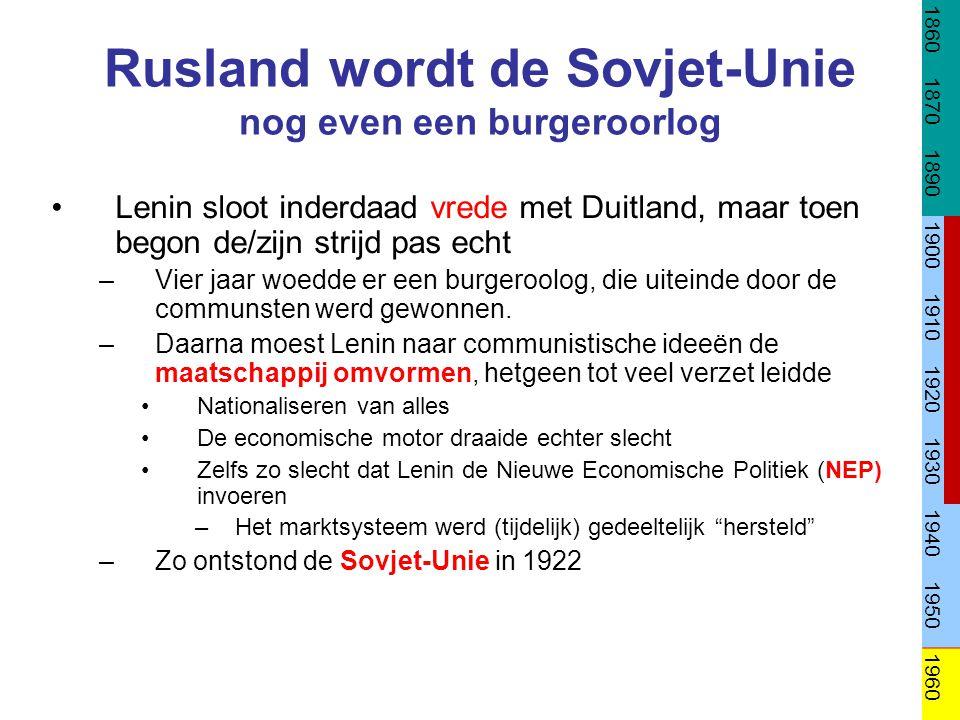 De Sovjet-Unie onder Stalin: Het Stalinisme Na Lenins dood trok Stalin de macht naar zich toe –Hoe.