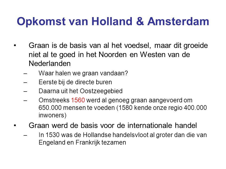 Opkomst van Holland & Amsterdam Graan is de basis van al het voedsel, maar dit groeide niet al te goed in het Noorden en Westen van de Nederlanden –Wa