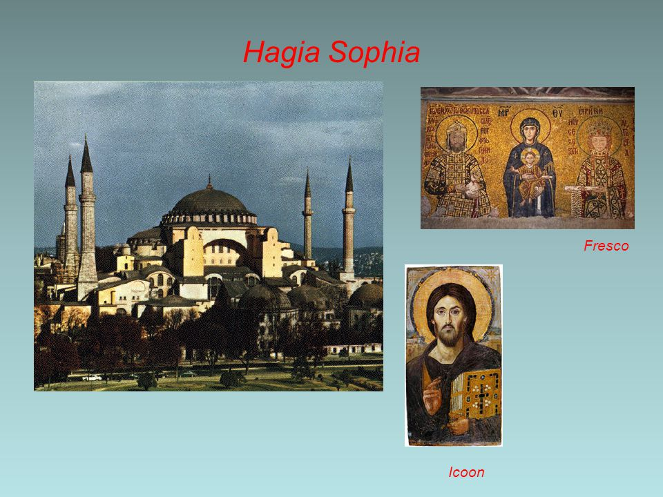Hagia Sophia Fresco Icoon