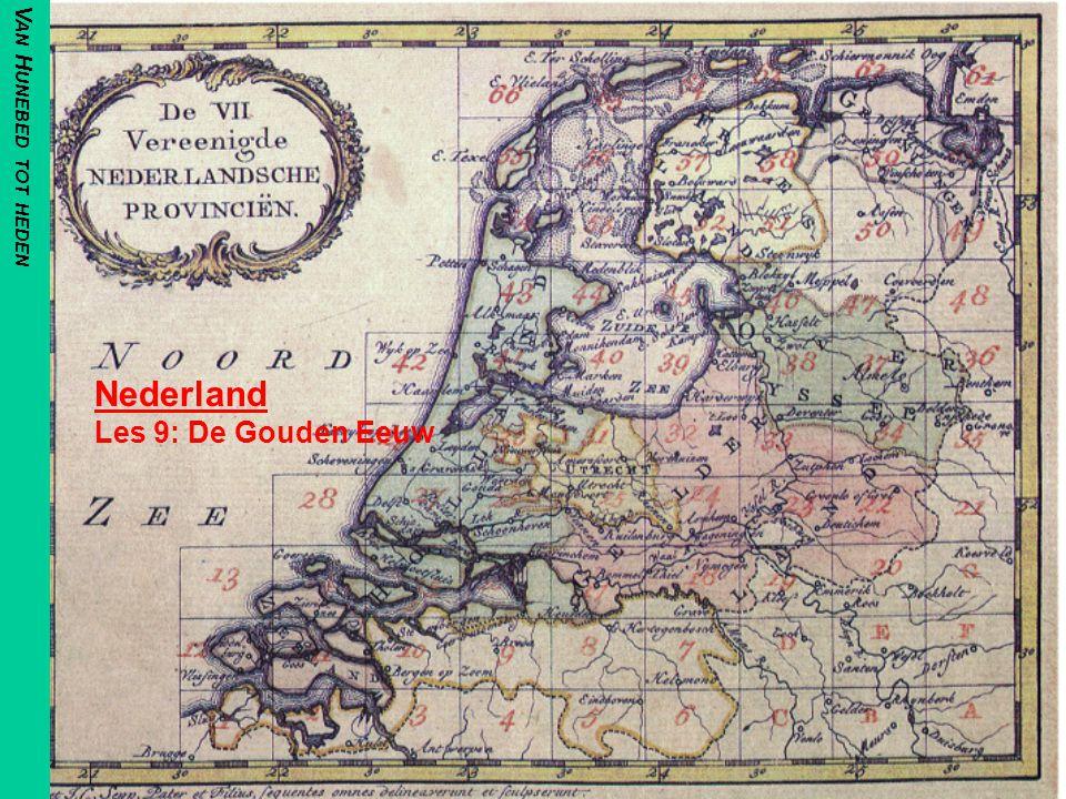 In den Beginne Door de Vrede van Munster (1648) werden de Noordelijke Nederlanden erkend als Republiek –Een nieuw staatshoofd werd niet gevonden –Haar Gewesten waren grotendeels zelfstandig –En de Calvinisten waren de baas geworden Al ten tijde van de Tachtigjarige Oorlog ontwikkelde de Republiek zich als economische grootmacht H10:§ 3:p171