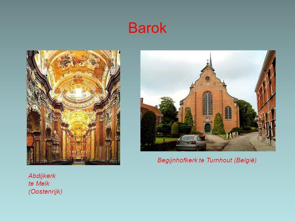 Barok Abdijkerkte Melk(Oostenrijk) Begijnhofkerk te Turnhout (België)