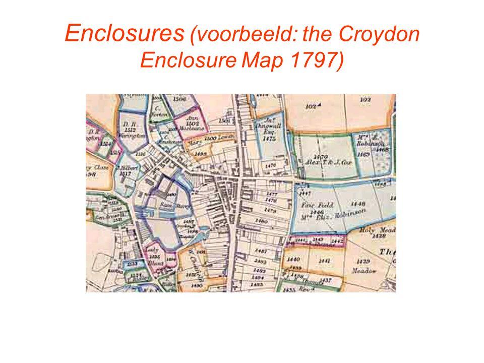 Enclosures (voorbeeld: the Croydon Enclosure Map 1797)