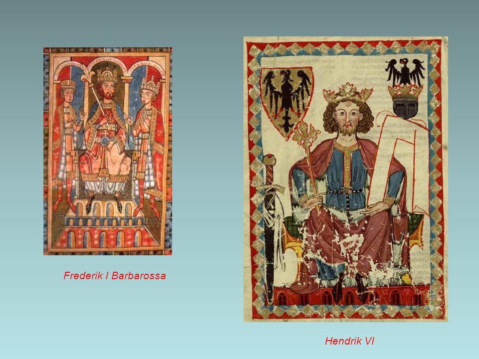 Aan de macht Na de dood van Hendrik VI (1165-1197) – de vader van Frederik II – ontstond in het Duitse Rijk een machtstrijd die met behulp van Paus Innocentius door Otto van Brunswijk werd gewonnen.