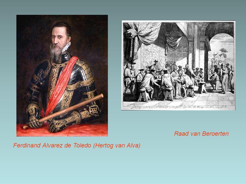 Ferdinand Alvarez de Toledo (Hertog van Alva) Raad van Beroerten