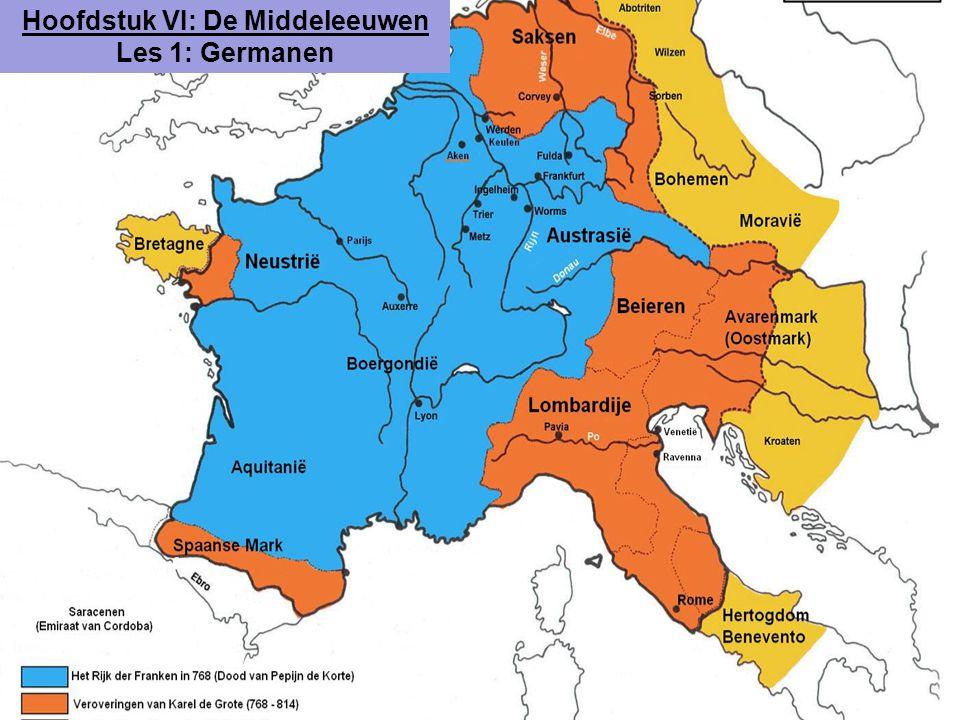 Hoofdstuk VI: De Middeleeuwen Les 1: Germanen