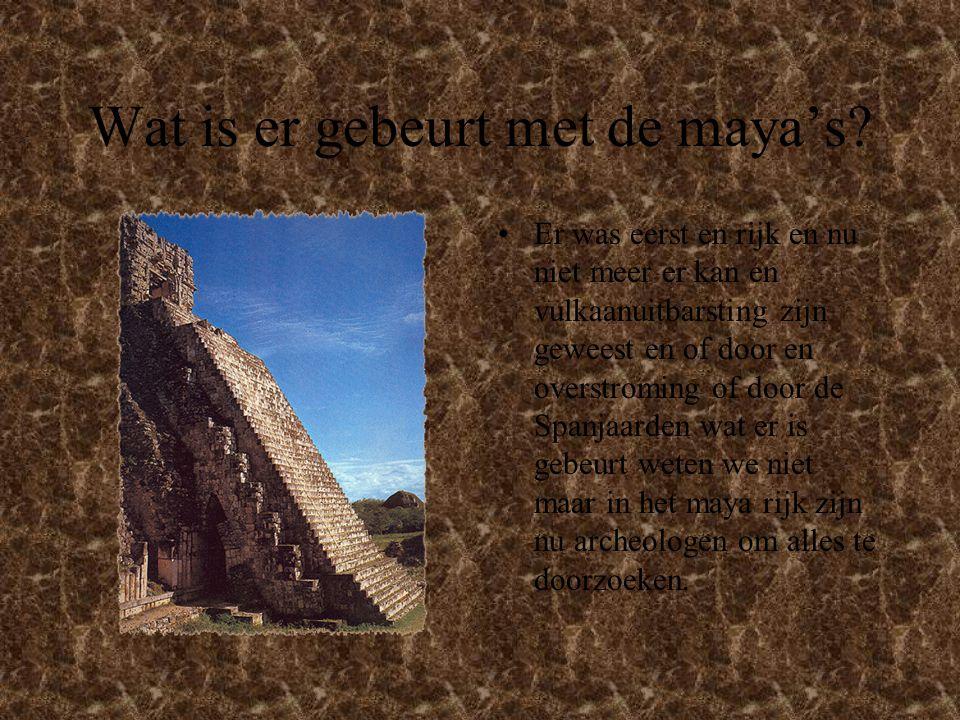 land De maya's hadden en heel groot land en veel tempels ieder voor en god en er waren ook veel mensen.