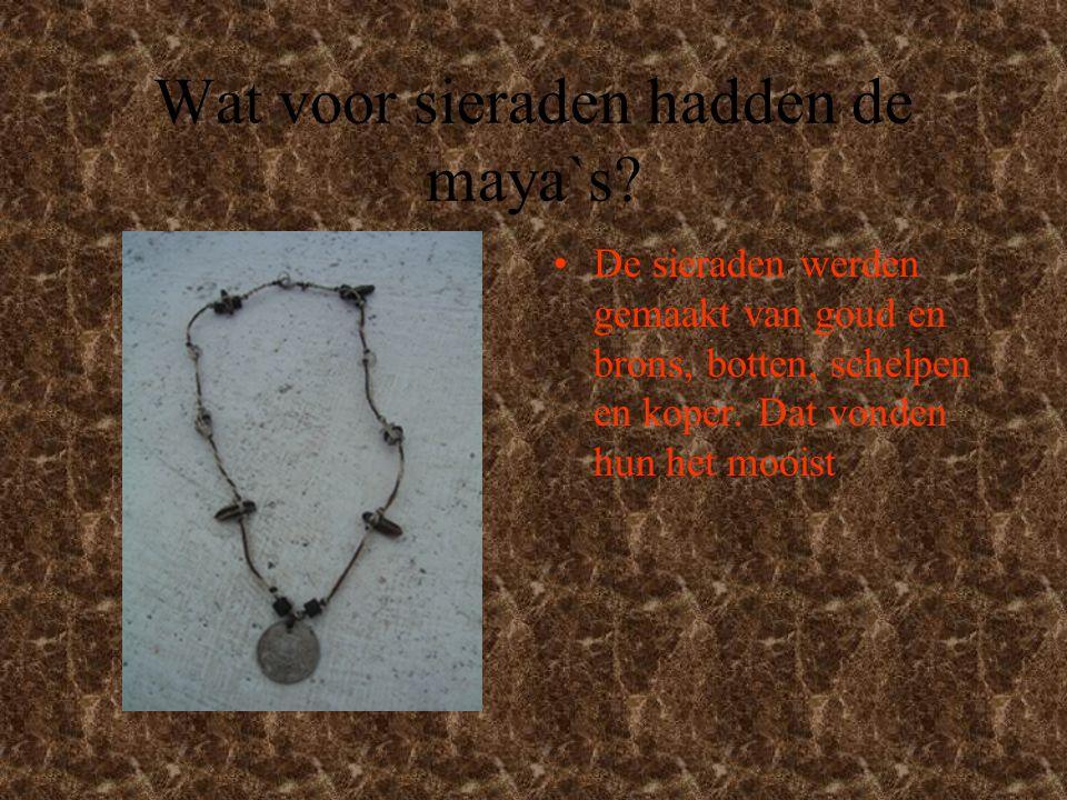 Wat voor sieraden hadden de maya`s.