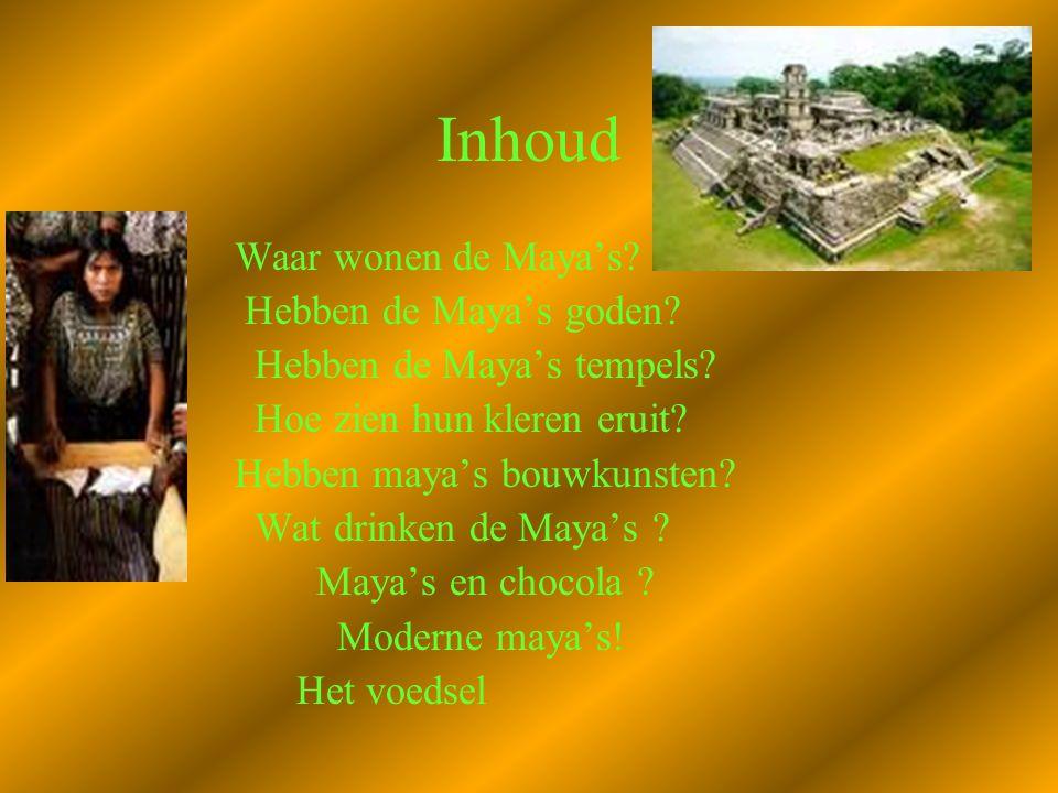 De Maya's Wij ( Elina en Annemein ) Houden een PowerPoint presentatie over de Maya's