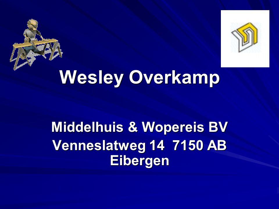 Wesley Overkamp Middelhuis & Wopereis BV Venneslatweg 14 7150 AB Eibergen