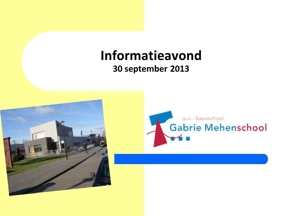 Informatieavond 30 september 2013