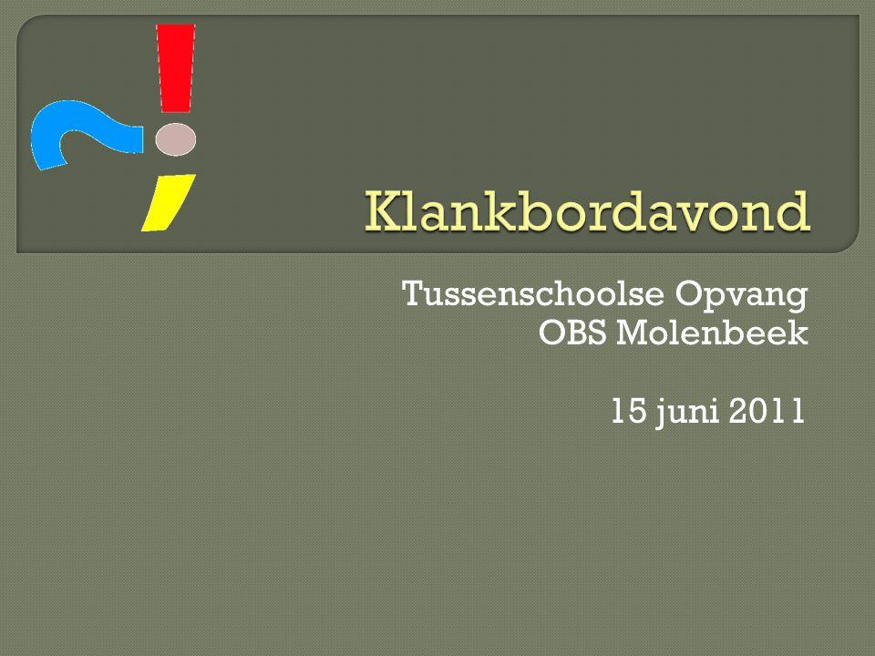 Tussenschoolse Opvang OBS Molenbeek 15 juni 2011