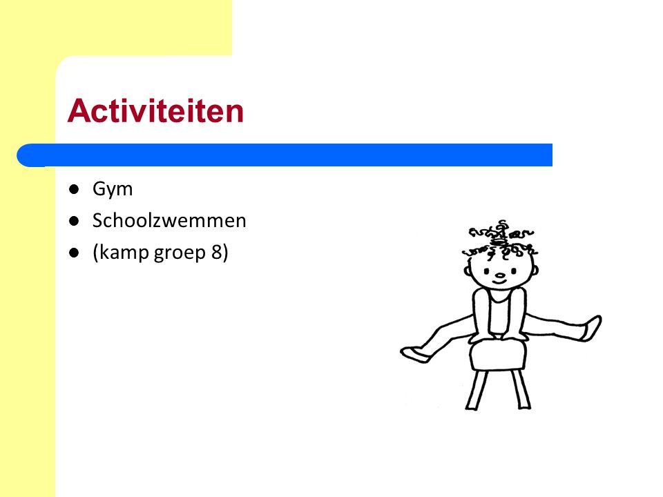 Activiteiten Gym Schoolzwemmen (kamp groep 8)