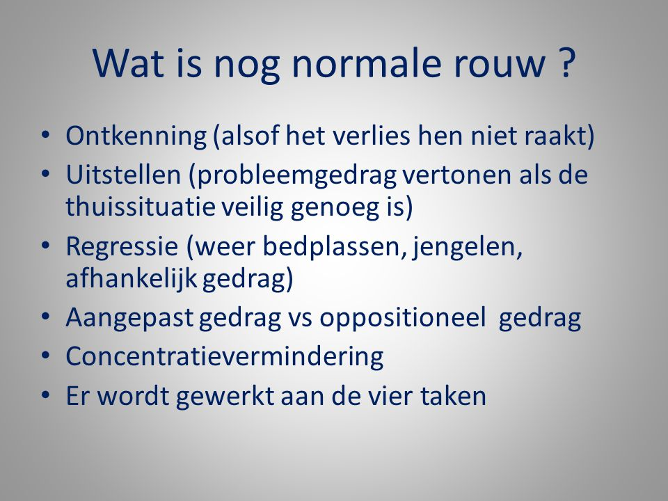 Wat is nog normale rouw .
