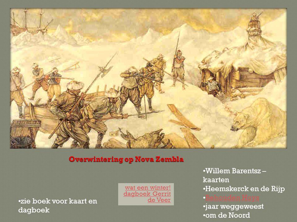 wat een winter! dagboek Gerrit de Veer Willem Barentsz – kaarten Heemskerck en de Rijp Behouden Huys jaar weggeweest om de Noord zie boek voor kaart e