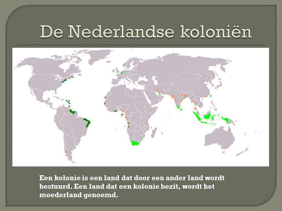 Een kolonie is een land dat door een ander land wordt bestuurd. Een land dat een kolonie bezit, wordt het moederland genoemd.