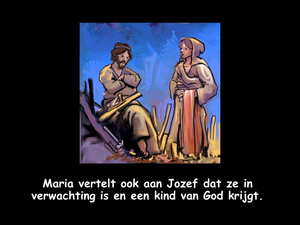Maria vertelt het goede nieuws aan haar nicht Elisabeth, die ook een kindje krijgt.
