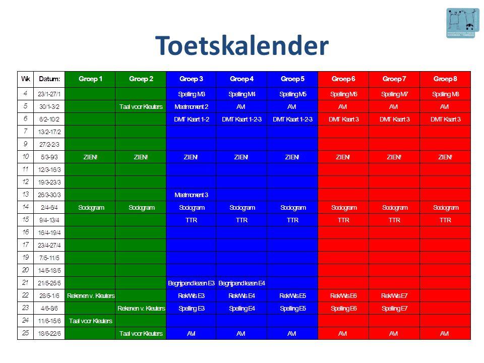 Toetskalender