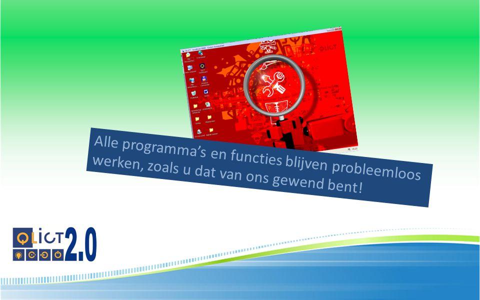 Alle programma's en functies blijven probleemloos werken, zoals u dat van ons gewend bent!