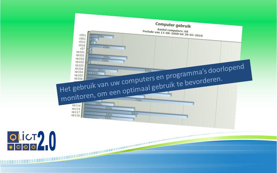 Het gebruik van uw computers en programma's doorlopend monitoren, om een optimaal gebruik te bevorderen.