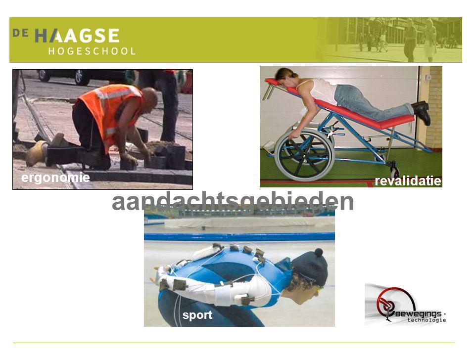 Project Ergonomisch Ontwerpen: de rode draad door de opleiding Voorbeeldthema's: Voortbewegen Tilhulpmiddelen Werkplekaanpassingen Meetopstellingen Sporthulpmiddelen