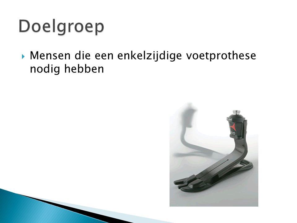  Mensen die een enkelzijdige voetprothese nodig hebben